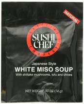 Sushi Chef White Miso Soup- Case of 12 Packets of Dry Mix - $13.60