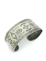 Vintage fred Harvey Navajo sterling silver SUN THUNDERBIRD cuff bracelet - $453.48