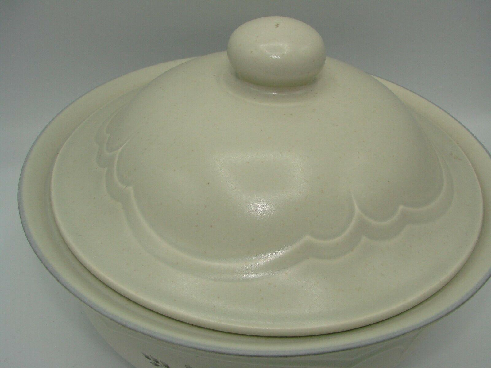 Pristine Pfaltzgraff Heirloom Covered Casserole Dish 8.75 2 Quart White Flowers image 3
