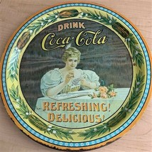 "Limited Edition Coca-Cola 75th Anniversary Round Tin Serving Tray - 12"" ... - $7.92"