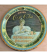 """Limited Edition Coca-Cola 75th Anniversary Round Tin Serving Tray - 12"""" ... - $7.92"""