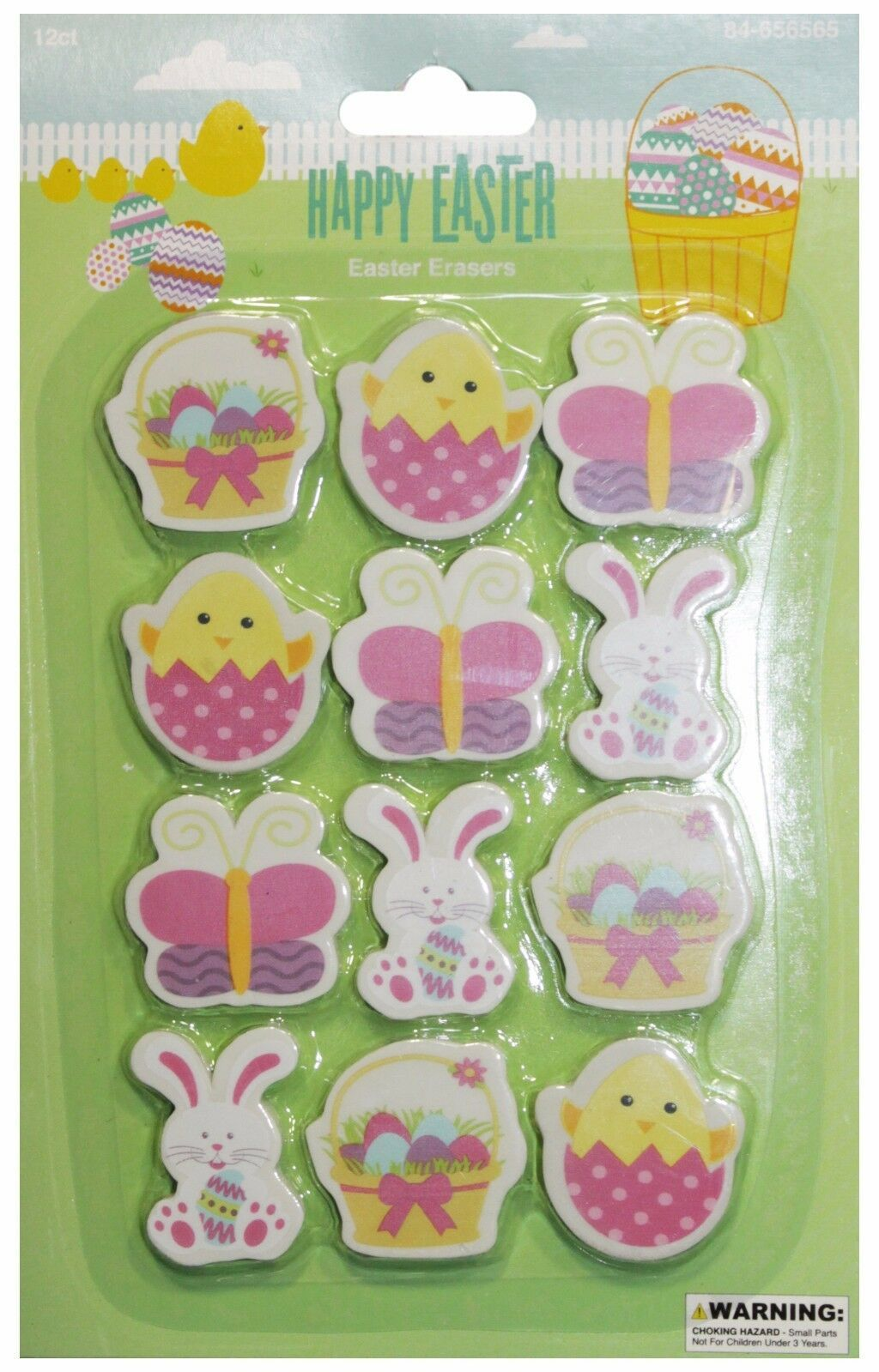 MOMENTUM* 12pc EASTER Bunnies+Chicks+Eggs+More NOVELTY ERASERS New! *YOU CHOOSE* image 2