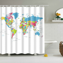 2017 New Design Colorful Eco-friendly World Map Polyester  High Quality Washable image 2