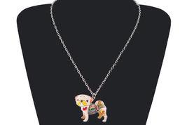 Necklaces Pendant Dog Pug Animal Zinc Alloy New Female Fashion Jewelry Accessory image 12