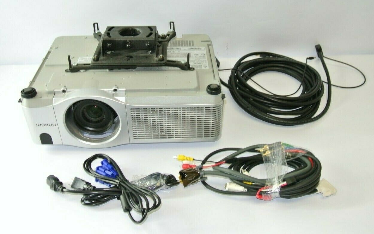 Primary image for Hitachi CP-X505 3LCD Ceiling Projector w/ mount, cables, 239 lamp hours!