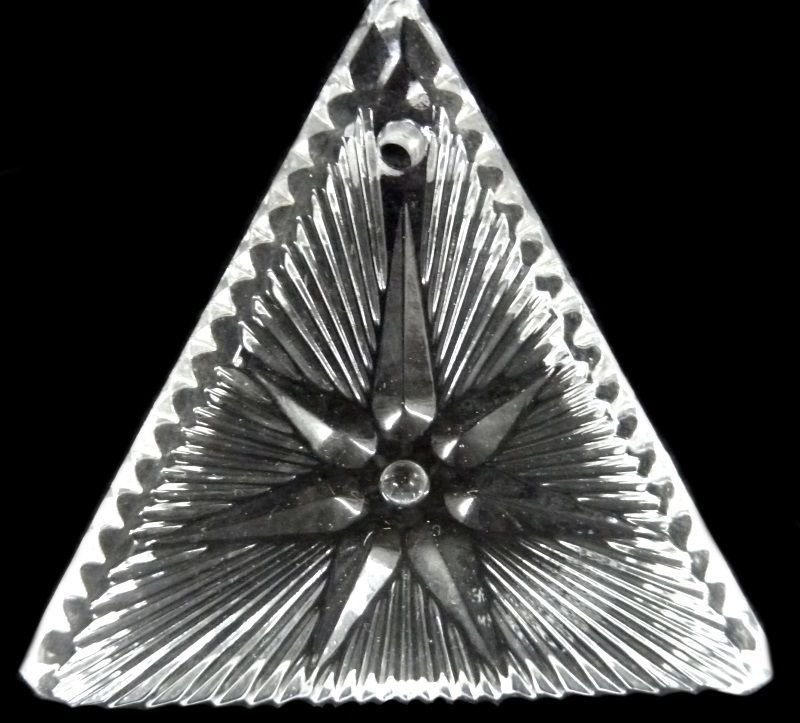 Waterford Crystal Ornament 2000 Times Square Triangle Star of Hope Collectible image 3