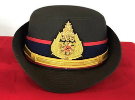 Royal Thai Army Officer Cap Green Colonel Uniform Captain Women Soldier Military - $60.43