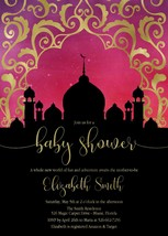 Arabian Nights Baby Shower invitation, Moroccan Baby Shower Invitation - $9.99+