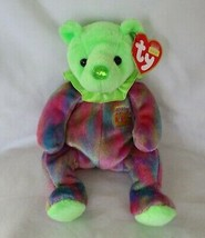 Ty Beanie Baby August Birthday Bear Peridot 2001 USED - $6.92