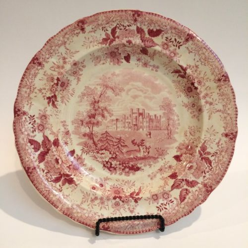 HISTORIC Belle Vue Pottery Hull \ Carstairs On The Clyde\  Transferware Plate & HISTORIC Belle Vue Pottery Hull \