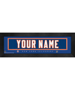 """Personalized New York Islanders Stitched Team Jersey 8"""" x 24"""" Framed Print - $38.50"""