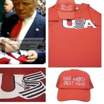 Donald Trump USA President Signed USA Baseball Jersey w/Maga Hat Proof A... - $969.99