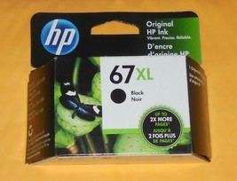 Genuine HP 67XL Black Ink Cartridge 2022 New 67 XL - $34.58