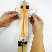 Bracelet Knitting Tool Wristband Diy Wood Paracord Jig Bracelet Maker Kn... - $17.75