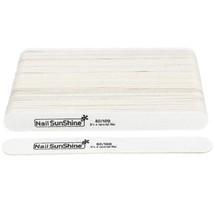 Wooden Nail File 80/100 UV Gel Polish Files Buffer Sandpaper 50pcs White... - $14.33