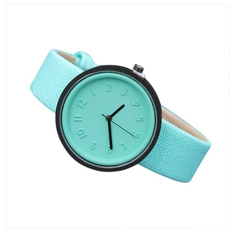 Round Simple Fashion Watches Canvas Belt Unisex Casual Wristwatch Box image 8