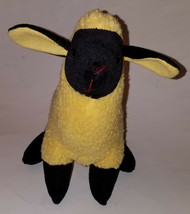 "Yellow Sheep Lamb Plush 11"" Stuffed Animal Sugar Loaf AS IS - $14.80"