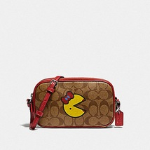 COACH CROSSBODY POUCH IN SIGNATURE CANVAS WITH MS. PAC-MAN F73446 - $99.99