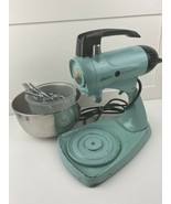 Vintage Blue Sunbeam Mixmaster Model II 10 Speed Mixer - Beaters, and Bowls - $128.06