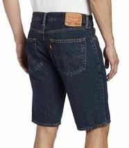 Levi's 505 Men's Premium Cotton Regular Fit Dark Denim Stonewash Shorts 505-2114 image 2