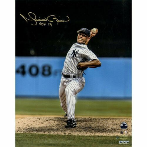 "Primary image for Mariano Rivera Signed 16x20 ""HOF 2019"" Vertical Pitching Photo Steiner."