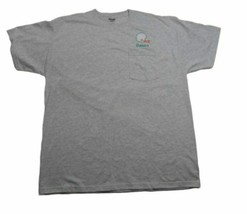 Jerzees XL Gray Pocket Tee with Miami Dolphins Color Helmet & OMAR on front - $14.99