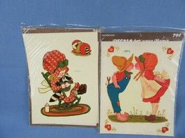 1970's Vintage Meyercord Water Decals Holly Hobbie Style 2 Sheets - $12.00