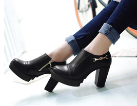 84063 sweet high & thick heeled pump, Size 2-10.5, black - $58.80