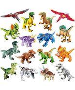 Dinosaur World Colorful Pterosaur Double Crown Trex Raptor Building Bloc... - $43.00