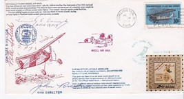OFFICIALLY FLOWN MODEL AIR MAIL TRIPLE AUTOGRAPH BURLINGTON WI 7/7/69 #2... - $8.58