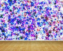 Abstract Coloured Stars Backdrop Wall Art Mural Wall Paper Self Adhesive Vinyl - $43.11+