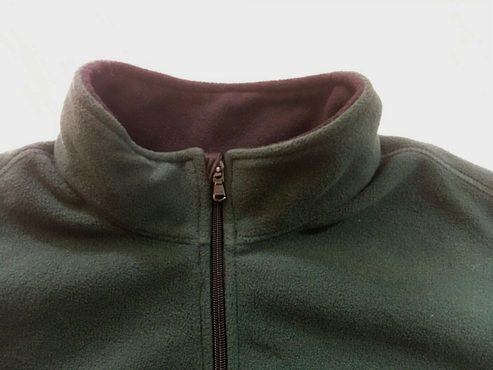IZOD Full-Zip Polar Fleece Jacket Big & Tall Hunter Green w/ Black Trim 2XLT $70 image 2