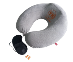 YANGNING Memory Foam Neck Pillow - Premium Neck Support For Comfort Rest... - $19.98