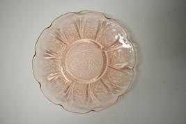 Vintage Jeanette Pink Cherry Blossom Depression Glass Saucer - $4.95