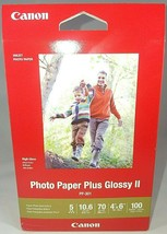 Canon Photo Paper Plus Glossy 2 Inkjet Photo Paper 4x6 100 sheets PP-301 - $7.06