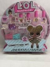 L.O.L. Surprise Confetti Nail Art Surprise Make Mystery Nail Polishes Set - $10.88