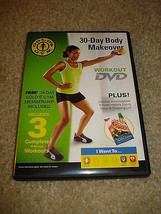 GOLD'S GYM 30 DAY BODY MAKEOVER WORKOUT DVD 3 WORKOUTS + EATING GUIDE - $8.91
