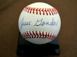 JESSE GONDER 1961 WSC NEW YORK YANKEES SIGNED AUTO VINTAGE OAL BASEBALL ... - $148.49