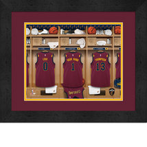 Personalized Cleveland Cavaliers 12 x 16 Locker Room Framed Print - $63.95