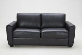 J&M Ventura Modern Black Premium Leather Foam Mattress Sofa Bed Contempo... - €2.013,94 EUR