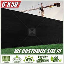 ColourTree 2nd Generation 6' x 50' Black Fence Privacy Screen Windscreen... - $64.34