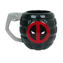 Deadpool Grenade Sculpted 15oz Mug Black - $21.98