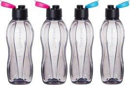 Tupperware Fliptop Plastic Bottle Set, 310ml, Set of 4, Black - $1.693,41 MXN