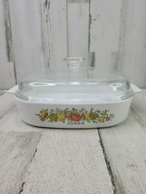 Vintage Corning Ware Spice Of Life 2.5 Qt Square Covered Casserole Dish A-10-B - $24.24