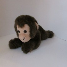 Wildlife artists 2003 plush lying down baby monkey brown stuffed soft toy - $9.89