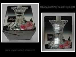 "Mikasa Crystal Candle Holder NIB 5"" - $16.99"