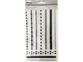 The Paper Company Dots & Stripes Clear Cling Stamp Set #ST93459