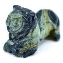Kambaba Jasper Gemstone Tiny Miniature Lion Stone Figurine Hand Carved in China image 2
