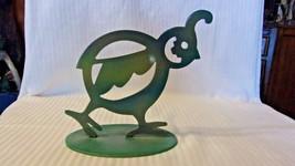 Vintage Metal Bob White Quail Figurine Southwestern Style Turquoise Color - £61.12 GBP