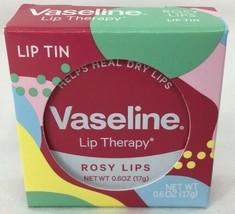 Vaseline Lip Therapy Rosy Lips Balm 1 Lip Tin - 0.6 oz Tin Brand New Sealed Tin - $5.26